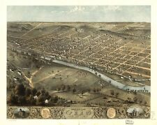 Indiana Vintage Panoramic Maps Collection On Cd