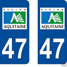 stickers autocollants plaques immatriculation auto Département Lot-et-Garonne 47