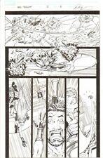 Hercules: Twilight of a God #2 p.5 Herc vs. Alien Silver Surfer 2010 by Ron Lim Comic Art