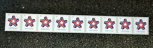 2019USA #5362 Forever Star Ribbon - PNC Plate Number (#B1111) Coil Strip 9  Mint