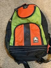 Crocs Kids Backpack School Bag Jibbitz Buttons Orange Green Zip Up Storage