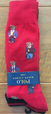 Ralph Lauren Teddy Bear 3 Pack Dress Socks One Size RRP £26