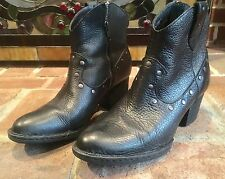 Born Black Side Zip Studded Boots Size 7 1/2