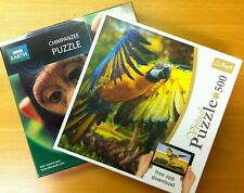 Set of two 500 piece animal jigsaw puzzles