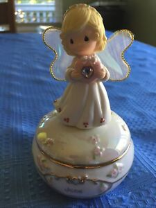 Junes Love By Sam Butcher Precious Moments Musical Box Angel Works