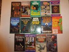 Lot of 14 Mystery Thriller Suspense,Martha Grimes,Agatha Christie,Elizabeth PeM5