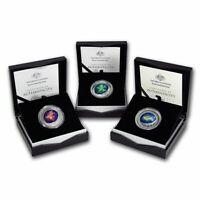 Northern Sky Silver 1oz Colour domed Coin Cassiopeia, Ursa Major & Cygnus 3 set