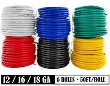 Multi-Color Primary Wire for Low Voltage 12V Car Audio Automotive Harness Wiring