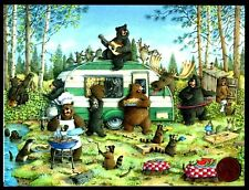 Father's Day Bears Bbq Raccoons Moose Camper Jeffrey Severn Father's Day Card