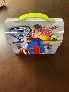 DC Comics Superman Mini Tin Lunch Box Never used