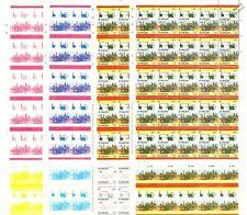 1804 PENYDARREN Locomotive Train Progressive Proof Stamp Sheets x 8 (Imperf)