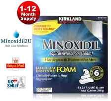 KIRKLAND MINOXIDIL FOAM 5% HAIR LOSS REGROWTH UK STOCK - 1, 2, 3, 6 & 12 MONTH