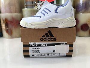 Girls Adidas Infant Enforma 1 Training Sneakers Shoes Retro NIB (U.S. Size 6)