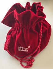 MONTBLANC Red Velvet Gift Pouch Bag with Booklet