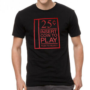"""""""Insert Coin To Play"""" Arcade Gaming Coin Slot Cotton T-Shirt - 3XL New, With Tag"""
