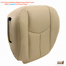 2003 2004 2005 2006 Chevy Tahoe Suburban Driver Synth Leather Seat Cover Tan#522