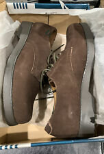 Willits Leather Uniform Shoes Solid Brown Saddle Lace Up Honor Roll Size 6.5
