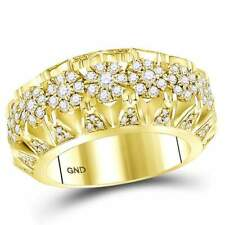 14 kt Yellow Gold  1 1/2 CT-DIA MENS RING