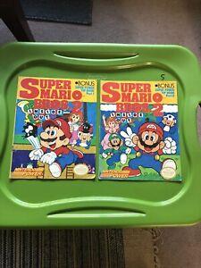 SUPER MARIO BROS. 2 INSIDE OUT SUPER POWER TIP BOOK PART 1 & 2 MAGAZINE NINTENDO