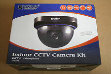 2 Unit Kguard FD205EPK 480TVL Indoor Audio Camera w Built in Microphone16 ft