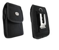 Black Canvas Case Holster wit Belt Clip/Loop for Verizon Kyocera Brigadier E6782