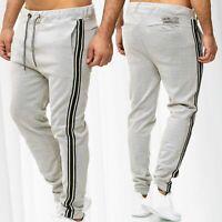 Pantaloni da uomo Jogging sudore Track Pants a righe sportivi Activewear Bottoms