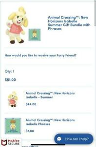Build-A-Bear Animal Crossing New Horizons Isabelle Summer Bundle w/ PHRASES