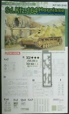 Dragon 1/35th Scale Hornisse Nashorn Early Decals from Kit No. 6165