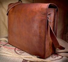 Vintage Crafts Leather Messenger Bag Satchel Leather Men's Briefcase Laptop Bag