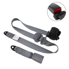3 Point Car Truck Front Seat Belt Buckle Kit Automatic Retractable Safety Straps