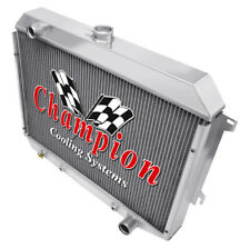 """1970 1971 1972 1973 1974 Dodge Challenger 4 Row DR Radiator, 26"""" Wide Core"""