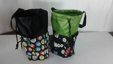 6 Pocket Bingo Bags  Black and Green