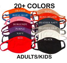 Face Mask Triple Layers 100% Cotton Washable Reusable Color Unisex Men Women Kid