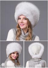 Brand Natural fox fur Sheepskin leather hat Russian Ushanka/Cossack Trapper Hat