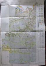 Le Flore County Oklahoma Soil Survey Large Foldout Color Map 1931 Choctaw Poteau