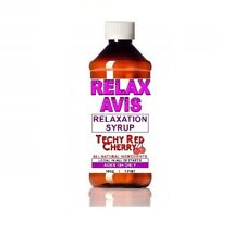 Cherry Red 16 ounce Relaxavis Nutritional Relaxation Syrup