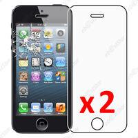 x2 Film Protection écran Verre Trempé Vitre Anti Casse Apple iPhone SE 5S 5