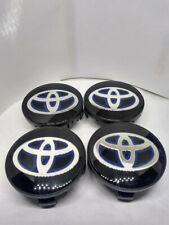 4x BLACK WHEEL HUB CENTER CAPS FOR TOYOTA 62mm Highlander Sienna 4runner Camry