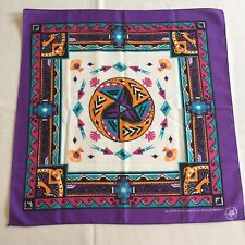 New Vintage Wamcraft Bandana Handkerchief Scarf Usa Southwest purple doo rag