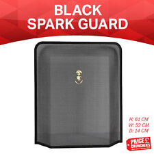 Black Fireguard Freestanding Fireside Fire Guard Screen Sparkguard Cover Safety