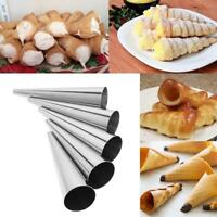 DIY Baking Maker Spiral Tube Baked Croissants Cake Mold Stainless Steel 5pcs