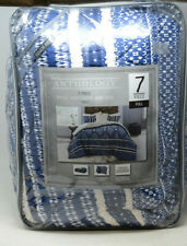 Anthology Henley Reversible Full Comforter Set in Blue (See Description)