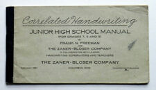 Correlated HANDWRITING Junior High School Manual 1927 Cursive Penmanship