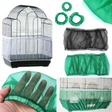Parrot Bird Cage Feeder Drinker Seed Catcher Nylon Mesh Guard Easy Cleaning New