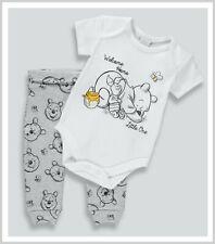 NEW Disney Baby Boys Winnie The Pooh Set Bodysuit Vest & Jogger Leggings Outfit