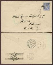 AUSTRALIA 1894 ALLEGORY 2 1/2d SINGLE FRANKING STRATHFIELD NEW SOUTH WALES to US