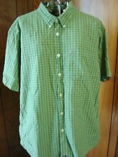 Mens XL Ezekiel Athletique Green Plaid SS Cotton Shirt Button-Down Collar