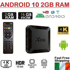 2021 Android 10 Smart TV Box Media Player 2GB + 16GB 4KHD Quad Core WIFI X96Q