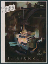 o. Reklame Foto Agfacolor Telefunken Röhre Fabrik Radio Rundfunk Elektronik 1940