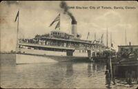 Sarnia Ontario Steamer Ship City of Toledo 1912 Used Postcard